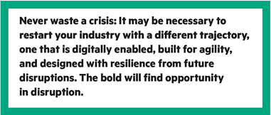 find opportunity in disruption