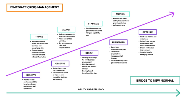 immediate crisis management vs bridge to new normal